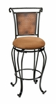 Milan Metal 26'' Counter Height Stool with Medium Beige Faux Suede Seat - Black Copper [4527-827-FS-HILL]