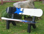 ''Millennium Blue and White Snowboard Bench [ISK-SNBB-MBL-FS-ISK]