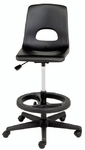 Millennium Series Adjustable Lab Stool with Foot Ring [2195-CSC]