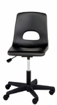 Millennium Series Adjustable Lab Stool with Shell Back [2190-CSC]