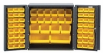 Mini All-Welded Storage Cabinet with 66 Bins - Yellow [QSC-36-MIN-YL-QSS]