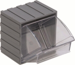 Mini Individual Clear Tip Out Bin - 3.75''W [QTB406-QSS]