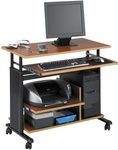 Muv™ Mini Tower Workstation Adjustable Height - Cherry [1927CY-FS-SAF]