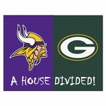 Minnesota Vikings - Green Bay Packers House Divided Mat 34'' x 45'' [8462-FS-FAN]