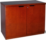Mira 36'' W x 20'' D x 29.38'' H Hinged Two Door Credenza - Medium Cherry [MHDC3620MC-FS-MAY]