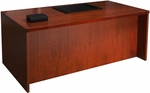 Mira 72'' W x 36'' D x 29.38'' H Straight Front Desk - Medium Cherry [MDKS3672MC-FS-MAY]