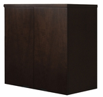 Mira 34.63 W x 24'' D x 38'' H Wardrobe Unit - Espresso on Walnut Veneer [MWD3624ESP-FS-MAY]
