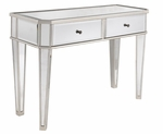 Mirrored Console with Silver Wood [233-225-FS-PO]