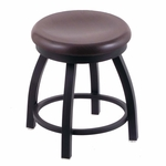 Misha 18'' Black Wrinkle Finish Swivel Stool with Dark Cherry Oak Wood Seat [80218BWDCOAK-FS-HOB]