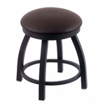 Misha 18'' Black Wrinkle Finish Swivel Stool with Gr 1 Allante Espresso Vinyl Seat [80218BWALESPR-FS-HOB]