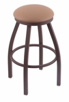 Misha 30'' Bronze Finish Swivel Barstool with Gr 1 Allante Beechwood Vinyl Seat [80230BZALBEWD-FS-HOB]