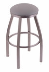 Misha 30'' Stainless Steel Finish Swivel Barstool with Gr 1 Allante Medium Grey Vinyl Seat [80230SSALMDGR-FS-HOB]