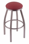 Misha 30'' Stainless Steel Finish Swivel Barstool with Gr 1 Allante Wine Vinyl Seat [80230SSALWINE-FS-HOB]