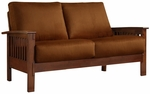 Mission Oak Rust Microfiber Loveseat [9912-2RU-FS-HOM]