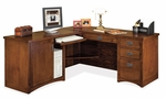 kathy ireland Home™ Mission Pasadena Collection L Shaped Workstation with Left Return [MP684L-MP684L-R-FS-KIMF]