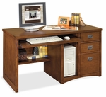 kathy ireland Home™ Mission Pasadena Collection 55.5''W x 29''H Single Pedestal Computer Desk [MP540-FS-KIMF]