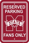 Mississippi State Bulldogs 12'' X 18'' Plastic Parking Sign [50242-FS-BSI]