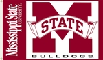 Mississippi State Bulldogs 3' X 5' Flag with Grommets [95021-FS-BSI]