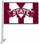Mississippi State Bulldogs Car Flag with Wall Brackett [97021-FS-BSI]