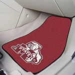Mississippi State University Carpet Car Mat 2 Pc 18'' x 27'' [5275-FS-FAN]