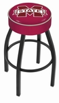 Mississippi State University 25'' Black Wrinkle Finish Swivel Backless Counter Height Stool with 4'' Thick Seat [L8B125MSSSTU-FS-HOB]