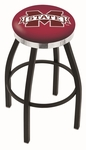 Mississippi State University 25'' Black Wrinkle Finish Swivel Backless Counter Height Stool with Chrome Accent Ring [L8B2C25MSSSTU-FS-HOB]