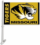 Missouri Tigers Car Flag with Wall Brackett [97043-FS-BSI]