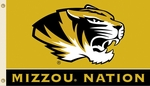 Missouri Tigers 'Mizzou Nation' 3' X 5' Flag with Grommets [95243-FS-BSI]