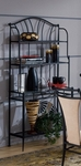Mix ''N'' Match Metal 36.75''W x 15.75''D Baker's Rack with 4 Shelves - Black [4592-850-FS-HILL]