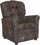 Kids Recliner with Button Tufted Back - Mixed Pine [400-MIXED-PINE-FS-BZ]
