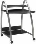 Eastwinds 31.5'' W x 34.5'' D x 37'' H Mobile Arch Computer Desk - Anthracite [971ANT-FS-MAY]