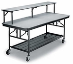 Mobile Bar/Buffet Table Laminate Plywood Core Top with Storage - 30''W x 72''L x 30''H [MB306EF-MFT]