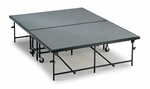 Mobile Carpeted Heavy Duty 16 Gauge Steel Deck Stage Section - 4'W x 8'L x 8''H [MS08C-MFT]