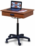Mobile Computer Workstation with Casters - 22''W X 20''D X 26''-36''H [HAU-9210-FS-HAUS]