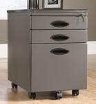 Mobile 3 Drawer Locking 15.5''W x 22.75''H Rectangular File Cabinet with Easy-Roll Casters - Pewter [18578-FS-SRTA]