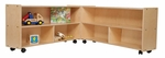 Mobile Six Shelf Folding Versatile Baltic Birch Plywood Storage Unit with Tuff-Gloss UV Finish - 93.5''W x 12''D x 23.25''H [C12530-WDD]