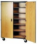 Mobile General Storage w/Adjustable Shelves [2040-O-IRO]