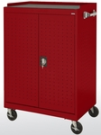 36'' W x 24'' D x 52'' H Mobile Laptop Security Cabinet - Red [MLS5236-01-EEL]