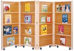 Mobile Library Bookcase - 4 Sections [0267JC-JON]