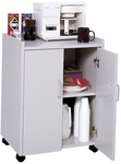 23'' W x 18'' D x 31'' H Mobile Refreshment Center with Heat Resistant Countertop - Gray [8953GR-FS-SAF]