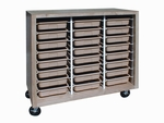 Mobile Tote Tray Unit - 24 Trays [SC-4824-HNN]