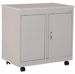 30'' W x 18'' D Mobile Utility Cabinet with Fixed Shelf - Dove Gray [RF1F-301826-05D-EEL]