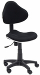 Mode Height Adjustable Contour Drafting Chair with 5 Star Base and Casters - Black and Chrome [18522-FS-SDI]