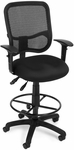 Mesh Comfort Ergonomic Task Chair with Arms and Drafting Kit - Black [130-AA3-DK-A05-FS-MFO]