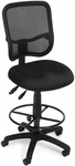 Mesh Comfort Ergonomic Task Chair with Drafting Kit - Black [130-DK-A05-FS-MFO]