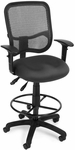 Mesh Comfort Ergonomic Task Chair with Arms and Drafting Kit - Gray [130-AA3-DK-A01-FS-MFO]