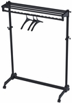 ALBA'S Steel Mobile Garment Rack with Three Coat Hangers - Black [PMRAK-SG483N-FS-ABA]