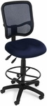 Mesh Comfort Ergonomic Task Chair with Drafting Kit - Navy [130-DK-A04-FS-MFO]