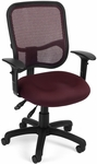 Mesh Comfort Ergonomic Task Chair with Arms - Wine [130-AA3-A03-FS-MFO]