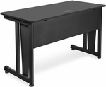 24'' D x 48'' W Modular Study Table - Graphite Finish [55103-GRPT-MFO]